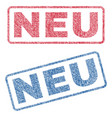 neu textile stamps vector image vector image