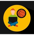 online training education-student sports vector image vector image