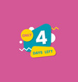 only 4 days left countdown discounts and sale vector image vector image