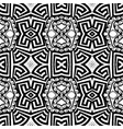 ornaamental black and white greek seamless vector image