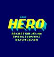 retro computer game style font design alphabet vector image vector image