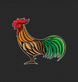 rooster logo design template head icon vector image