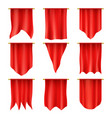 royal flags hanging pennant and silk banners vector image
