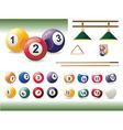 set billiard accessories vector image