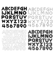 Set of Alphabet fonts and numbers vector image