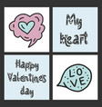 set of cute cards for st valentine s day vector image vector image