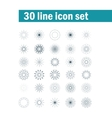 Set of thirty angular abstract icons vector image