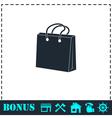 Shopping bag icon flat vector image vector image