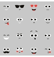 sketches of funny smiley faces vector image vector image