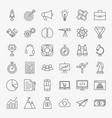 startup line icons vector image