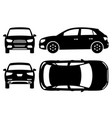 suv car silhouette vector image