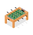 Table Football Game Isometric View vector image vector image