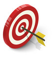target icon isometric style vector image vector image