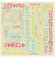 The Effectiveness Of Acupuncture text background vector image vector image
