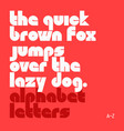 the quick brown fox jumps over the lazy dog latin vector image vector image