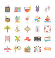 travel and holidays icons set vector image vector image