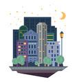 urban landscape in flat design vector image vector image