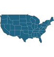 usa states border map vector image