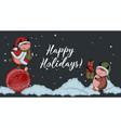 year bull greeting card happy new vector image vector image