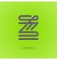 Z Letter Z type line shape Z Line Logo Design vector image vector image