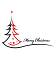 Beauty Christmas tree background vector image