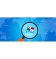 panama map world location flag vector image