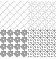 Arabic black white patterns vector image