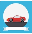 Sports car icon vector image