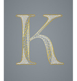 Abstract golden letter K vector image vector image