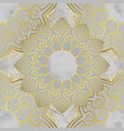 arabic golden seamless pattern on marble vector image vector image