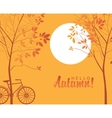 autumn landscape with trees in the park vector image vector image