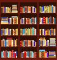 bookshelf seamless pattern vintage flat design vector image vector image