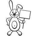 bunny with sign vector image vector image