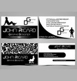 business card abstract creative set 7 vector image
