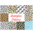 butterfly and moth seamless pattern background vector image vector image