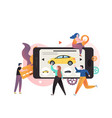 carsharing concept for web banner website vector image
