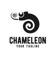 chameleon logo design template vector image