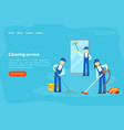cleaning service landing page template vector image vector image