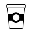 coffee plastic container drink line style icon vector image vector image