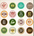 Collection colorful badge and labels retro