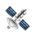 Communication satellite isolated on white vector image vector image