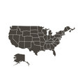 contour map of the usa on white background black vector image