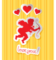 cupid heart vector image