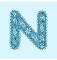 Cute letter N Floral monogram N vector image vector image