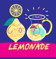 delicious drink lemonade vector image
