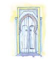 door in moroccan style vector image