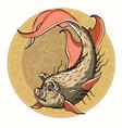 fish pig vector image