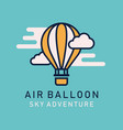 flat image hot air balloons airship vector image