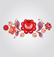 floral russian style element vector image