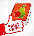 fruit recipe book vector image